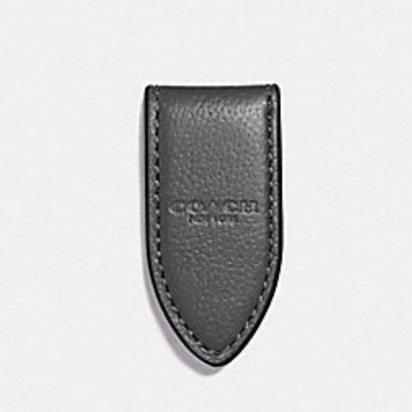 Coach Other - 🆕 Coach Leather Money Clip Gray